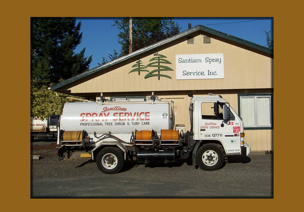 Santiam Spray Service truck